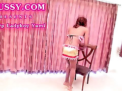 Post-Op Ladyboy Yumi Fingering and Toying