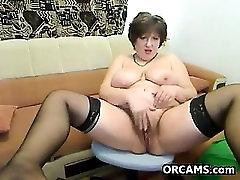 Fat Mature Woman Does A Striptease