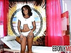 Ebony Babe Fingering Her Dark Pussy