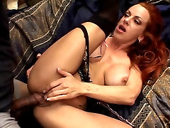 Redhead MILF pounded by big black cock