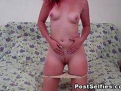 Amazing Busty Redhead Go Wild And Horny On Webcam