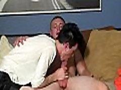 Skinny gay lad gets cock sucked