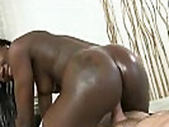 Brown and Round - Ebony Goddess with Huge Black Butt Nailed Hard from Behind 22