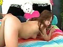 Sexy teen sucking and fucking big cock 19