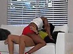 Black girl deepthroats her lad
