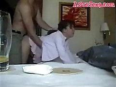 Super hot Asian mom fucks passionately in a hotel room