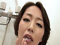 41Ticket - Japanese Mature Masturbates and Sucks Cock in Shower Uncensored JAV