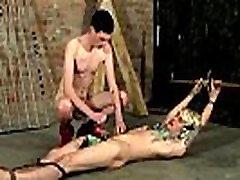 Schoolboys balls bondage hanged gay Pegged And Face Fucked!