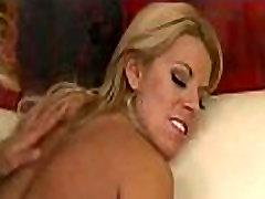 Blonde lesbian couple Brandi Love &amp Nicole Graves enjoy rough-sex