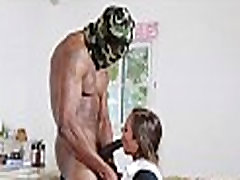 Black dick visits mouth and slit