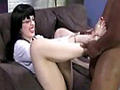 Black Meat White Feet - Black cock foot fuck action 12