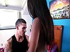 Natural Tit Black Girl Sucks Off White Guy