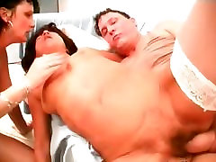 Two horny mature sluts share one hard part4