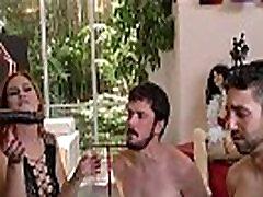 Femdom redhead cuckolds 2 white boys with bbc