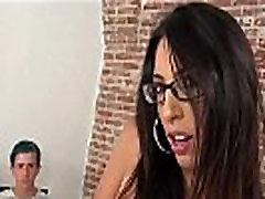 Cuckold in chastity belt watching wife suck bbc
