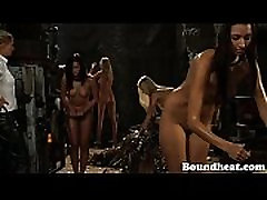 Slave In Bondage Whipped By Mistress