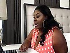 Exotic Ebony BBW Lovely Libra Fucks Fan