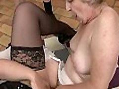 Granny lesbian scissors