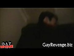 Huge dick bonks head of a gay