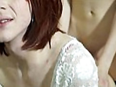 Tranny twosome anal sex in bedroom