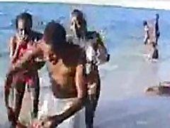 Stripped Forced Bikini Ebonies