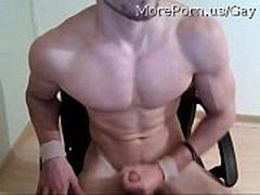 Very sexy muscle boy getting naked and show off his Cock - jerkit.net