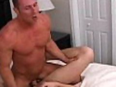 Gay with big balls fucks wazoo