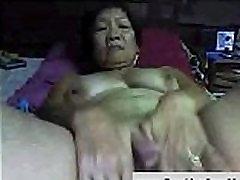 Amateur Asian Granny on Cam, Free Webcam Porn 2b