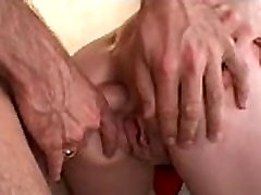 Blonde gets deep throated and ass banged