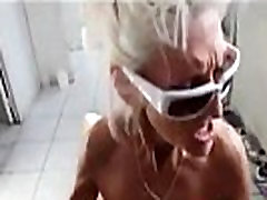 Skinny mature slut gangbanged