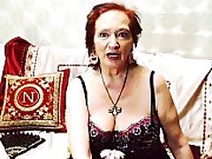 Aruba tanned Rue sing yummy femdom handcuffs