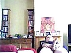 Mature Mom wearing black stockings - fatbootycams.com