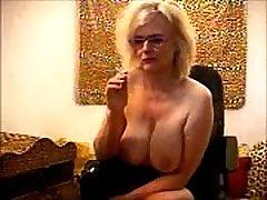 Teasing Boss Granny Porn Star Busty Boob Smoker