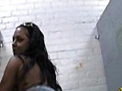 Sexy ebony enjoying gloryhole 17