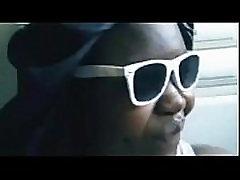chubby black girl from BlacksCrush.com sucks white cock