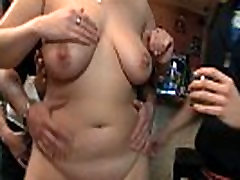 Wild bbw party in the bar