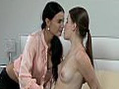 Lesbian sweethearts rubbing