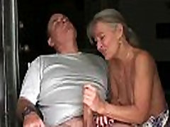 ov40-Mature couple handjob