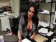 Mature Latina Hanjob At The Office