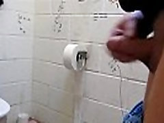 Naked on Dirty Floor in Public Toilet, Free Gay HD Porn a1