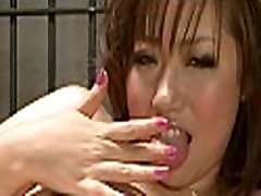 Asian playgirl in underware cumshot