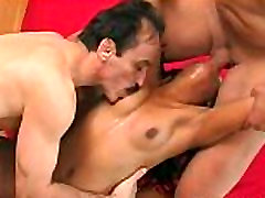 Sizzling hot Asian cuttie fucked in a hot threesome
