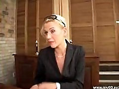 Elegant blonde german mature fucked in the ass and cumshoted