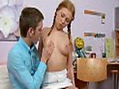 Stripped teenie widens
