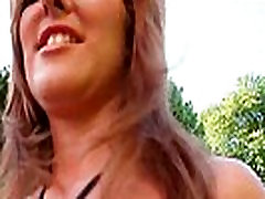Funny lady shows off her big natural boobs