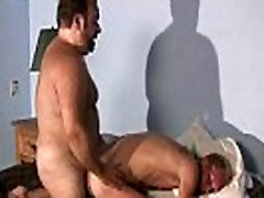 Blond guy is drilled by homosexual bear gays