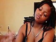 POV wanking amateur ebony teen in lingerie