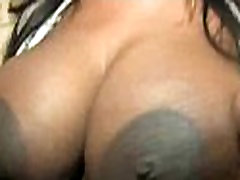 Supr hot ebony chick blows a group of white dicks 13