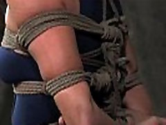Beautiful mature submissive tied up
