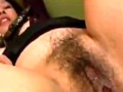 Mature Woman Getting Her Hairy Pussy Fucked By Young Guy Creampie On The Couch